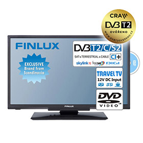 "Finlux TV20FDMA4760 (20"" T2 SAT,DVD,12V) - Travel TV"