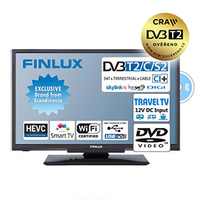 "Finlux TV24FDM5660 (24"" T2 SAT,DVD,12V, WIFI) - Travel TV"